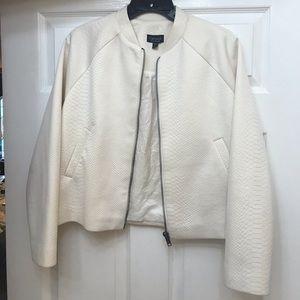 White TOPSHOP Blazer jacket letterman coat style